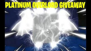 *PLATINUM OVERLORD* GIVEAWAY (Roblox Bubble Gum Simulator)