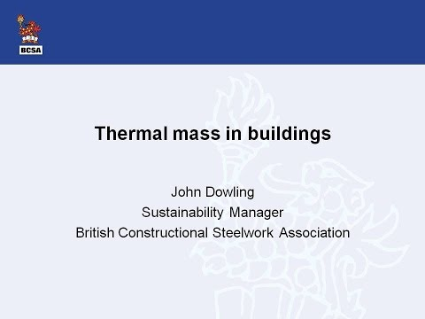 Thermal Mass in Buildings