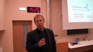 Dr.E.Stalidzāns par zinātnes popularizēšanu reģionos