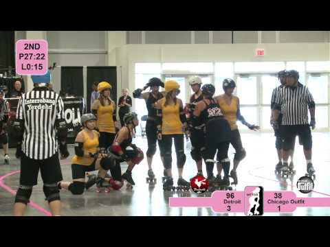 Detroit Derby Girls v Chicago Outfit: 2012 North Central Region Playoffs