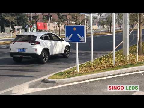 solar traffic signs china / solar powered traffic sign