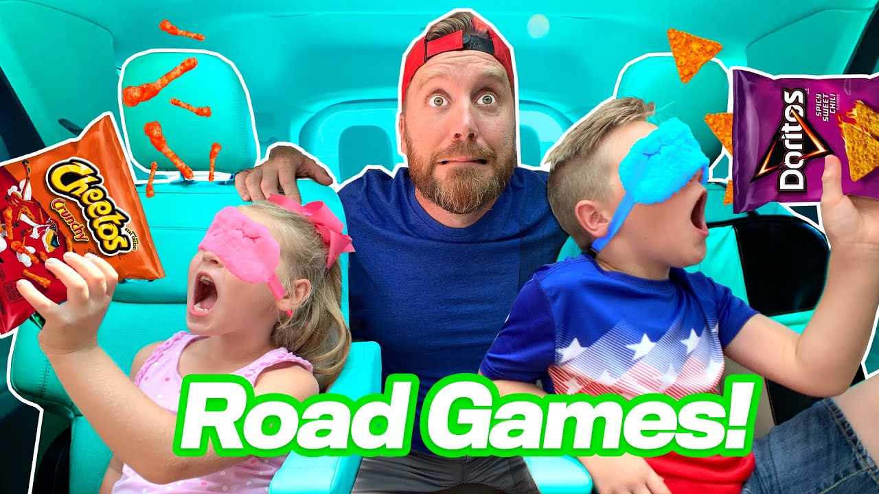 Road Games!!! Blindfolded Chip Challenge to the Beach // K-City Family