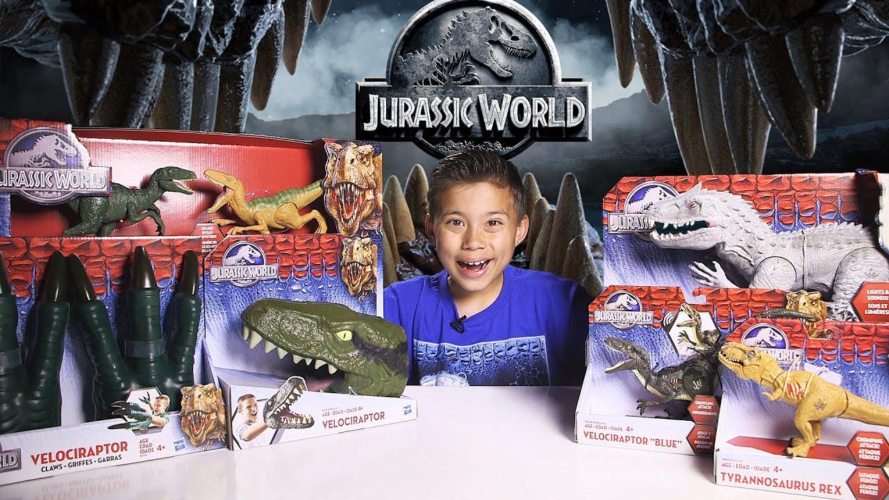jurassic world suprise box indominus rex velociraptor 4