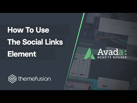 How To Use The Social Links Element Video