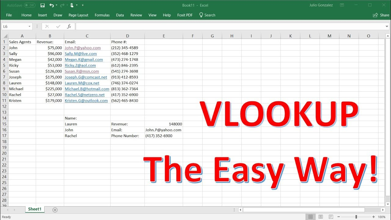 How To Use The Excel VlookUp Function Tutorial   The Easy Way