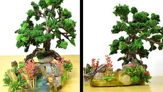DIY Miniature Garden using Pebbles and Paper Clay This tutorial shows you How to Make a Miniature Garden with Waterfall using mainly a Paper clay, ...