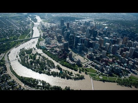 Calgary Alberta From A Drone