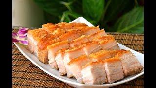 Siu Yuk, Chinese Crispy Roast Pork Belly: Hong Kong Chacaanteng-style Cantonese pork, at home (烧肉)