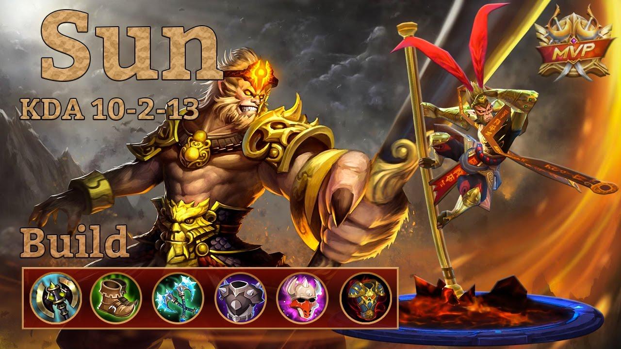 mobile legends: sun mvp, tanky fighter build! seems good