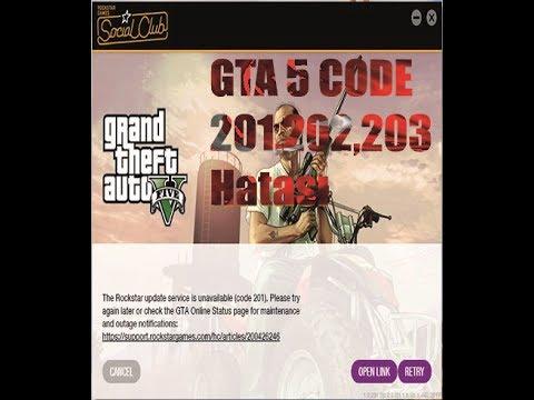 GTA 5 Code 201, Code 203, Code 202 Hataları | rockstar games services unavailable Hatası Çözümü