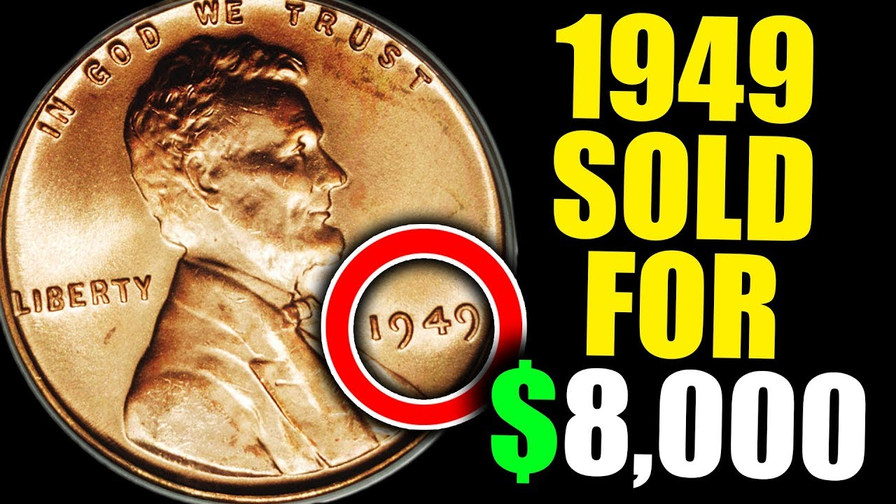 Lower Mintage Penny 1949 S Lincoln Wheat Penny BU from OBW roll