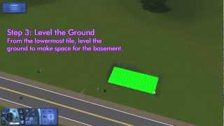 How To Build A Basement On Sims 3