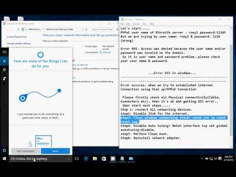 Error 691 & 651 On Windows In Broadband Connection (sam Online)