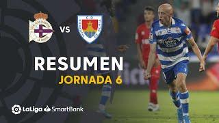 Resumen de RC Deportivo vs CD Numancia (3-3)