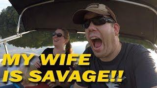 Dad Jokes Battle While Fishing for Catfish!!! Win FREE fishing rod!