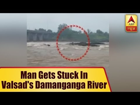 Gujarat: Man Gets Stuck In Valsad`s Damanganga River After Heavy Rain Lashes South Gujarat