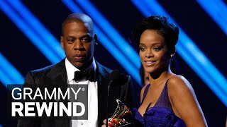 "Witness Rihanna Accept Her First-Ever GRAMMY Win With JAY-Z For ""Umbrella"" 