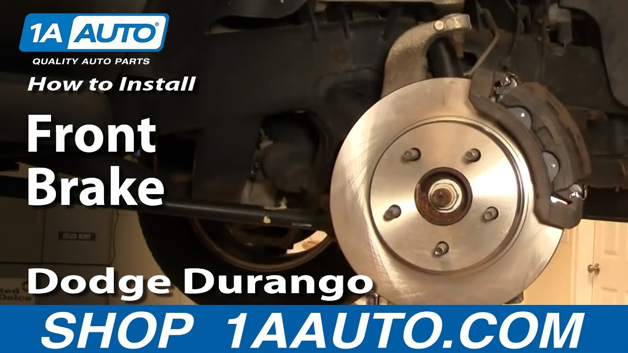medium resolution of how to install replace front brakes dodge durango 04 09 1aauto com