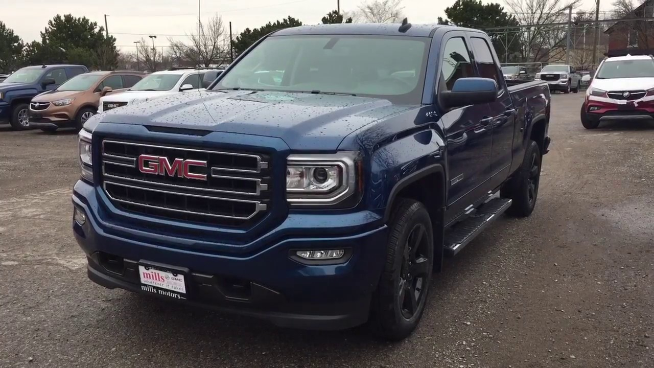 Gmc Elevation 2017 >> 2017 GMC Sierra 1500 4WD Double Cab Elevation Edition 20' Wheels Blue Oshawa ON Stock #171163 ...