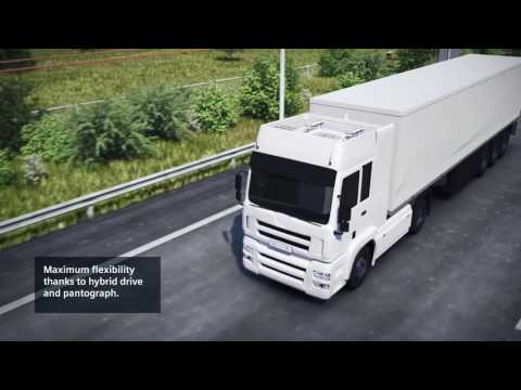 Siemens eHighway - solution for electrified road freight transport