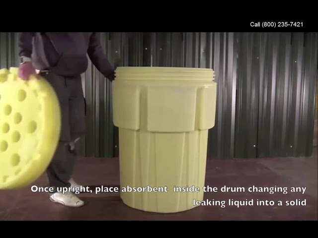 How to load a drum into a Poly Overpack