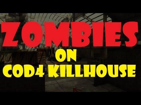Zombies in CoD4 Killhouse | Left 4 Dead 2 Survival