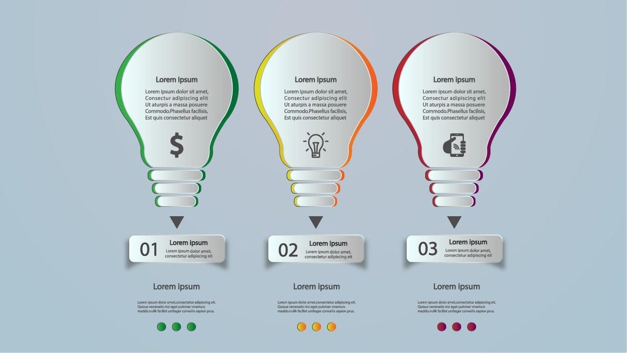 Illustrator Tutorial Graphic Design Bulb Infographic Design ...