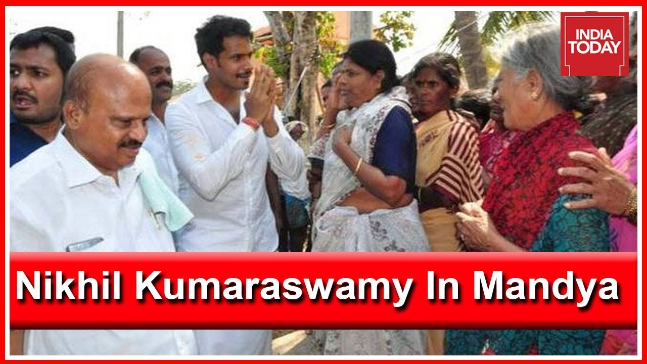 Nikhil Kumaraswamy Speaks To India Today During Campaign Trail In Mandya