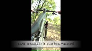 MTB front fork RockShox SiD 29 with BRAIN demonstration