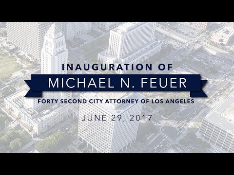 2017 Inauguration of Mike Feuer, Los Angeles City Attorney