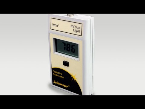 Solarmeter Model 10.0 Digital Handheld PV Global Solar Power Meter  Radiometer with Integral Sensor