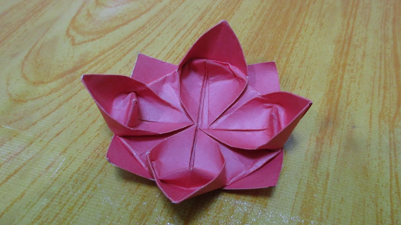 How to make origami flower lotus || paper flower lotus ... - photo#37