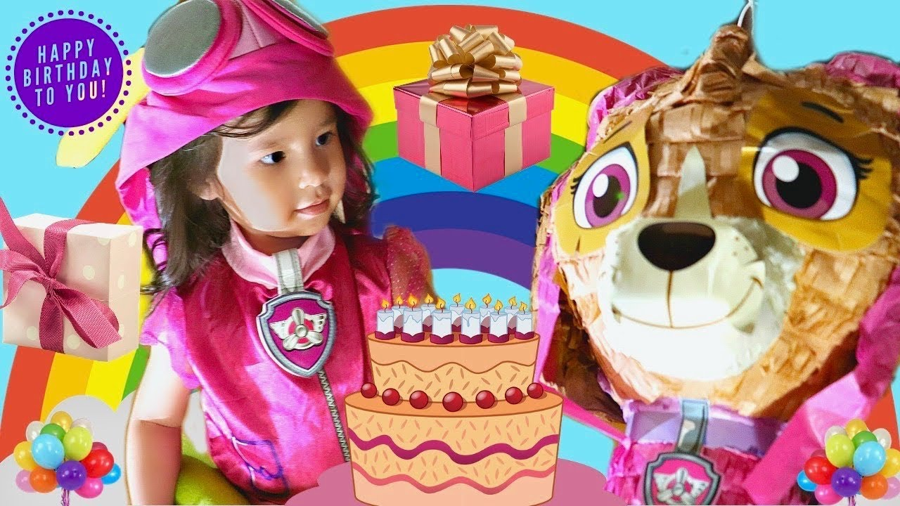 Paw Patrol Pinata And Happy 3rd Birthday For Nessa