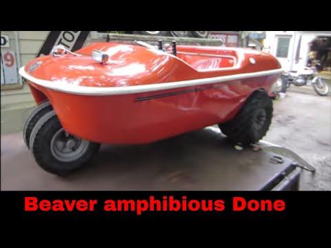 finishing up the Beaver amphibious vehicle,