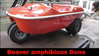 Finishing Up The Beaver Amphibious Vehicle,