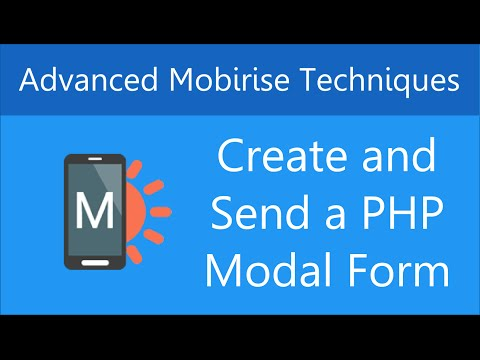 Create and Send a Popup (Modal) Contact Form in Mobirise