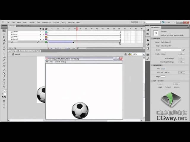 Flash CS5 04 Working with timeline movieclips