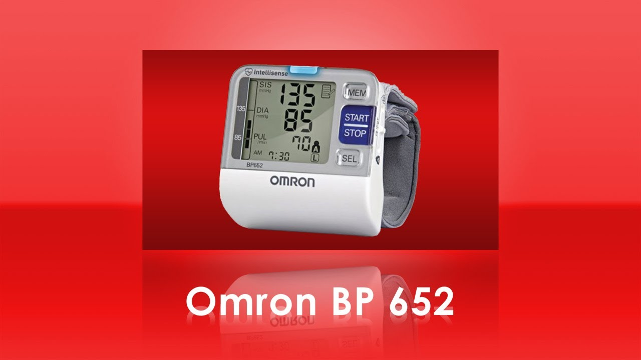 Omron Bp652 7 Series Wrist Blood Pressure Monitor Youtube