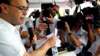 2011/05/01 Congresista Luis Gutierrez Contra el Gasoducto, Adjuntas, Puerto Rico