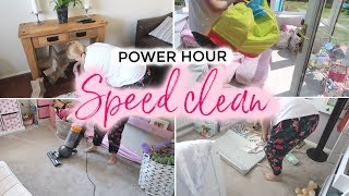POWER HOUR SPEED CLEAN | CLEANING MOTIVATION 2019