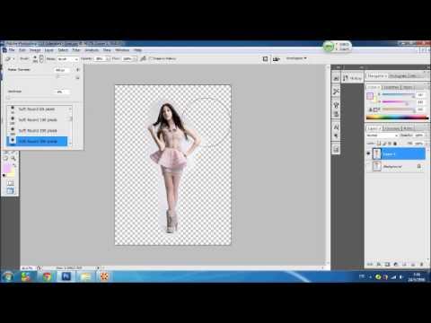 วิธีใส่กรอบรูป photoshop