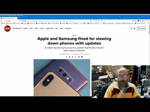 News - Apple and Samsung fined by Italian Regulators