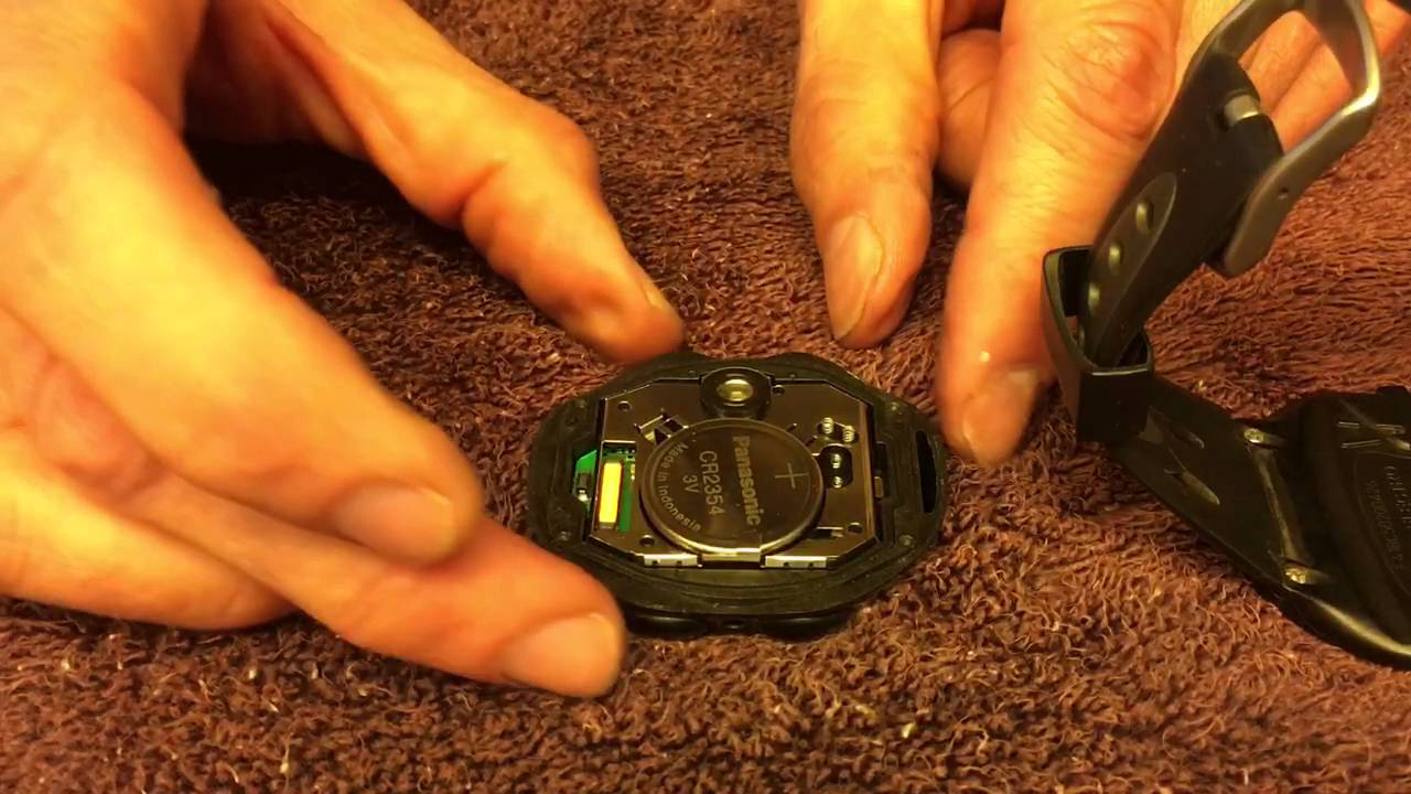 How to replace battery in polar rs200 heart rate monitor watch.