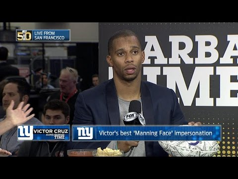Victor Cruz shows off his best Manning face