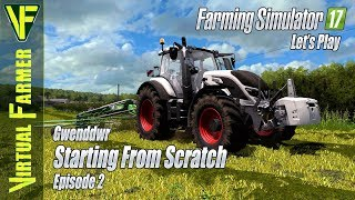 Readying the grass for Silage | Starting From Scratch , Episode 2: Let's Play Farming Simulator 17