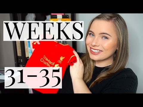 PREGNANCY UPDATE WEEKS 31-35 // Sick Leave, Symptoms + Baby Gifts | First Pregnancy