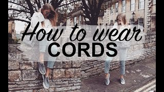 HOW TO WEAR CORDS | LOOKBOOK | SINEAD CROWE