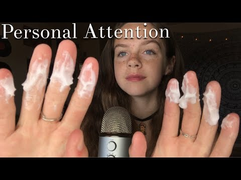 ASMR Personal Attention Triggers (Lotion,Lipgloss,Brushing)