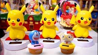 Mainan Boneka Dasboard Mobil Unyu-unyu Lucu Ada Hello Kitty, Doraemon, Panda & Pikachu Pokemon