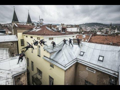 Rooftop Freerunning Through Bosnia Youtube